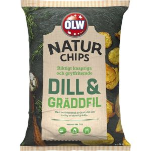 OLW Naturchips Dill & Gräddfil