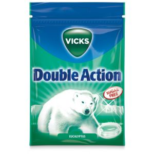 Vicks Blue Double Action Eucalyptus  Sockerfria