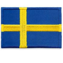 Broderad Svensk Flagga