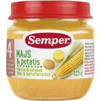 Semper Puré Majs & Potatis - 4 Mån