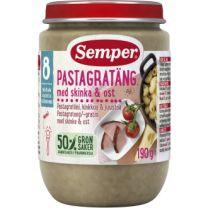 Semper Puré BurkMat Pastagratäng med skinka & ost - 8 Mån