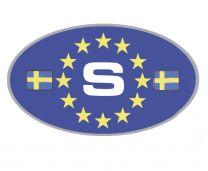 S-Dekal För Bilen Blå