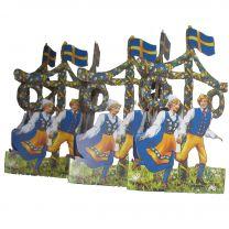 Bordsdekoration Sverigepar