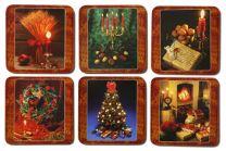 Glasunderlägg Jul