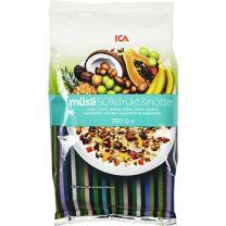 Müsli 50% Frukt & nötter  ICA