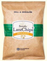 Svenska Lantchips Dill & Gräslök