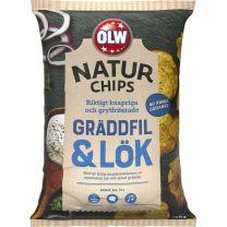 OLW Naturchips Gräddfil & Lök