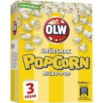 OLW- Micropop Popcorn smörsmak