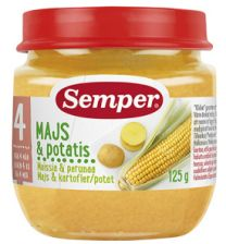 Semper Purée Majs & Potatis - 4 Mån