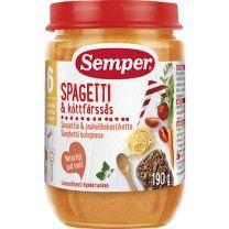 Semper Puré BurkMat Spagetti och Köttfärssås - 6 mån