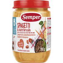 Semper Puré BurkMat Spagetti med Köttfärssås - 8 mån