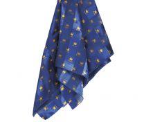 Blå Silkesscarves