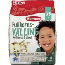 Semper Fullkornsvälling Frukt & Dinkel 3-6 år *StorPack*