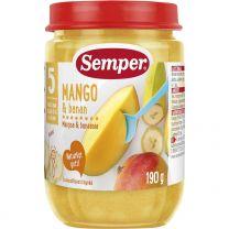 Semper Puré Frukt Mango & Banan - 5 Mån