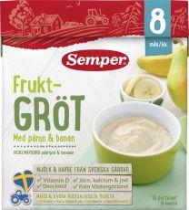 Semper Fruktgröt Päron & Banan 8 Mån *StorPack*