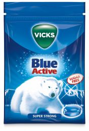 Vicks Blue Active Sockerfria