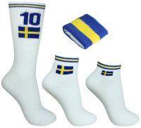 Tennissockor Sverige 3-pack + Svettband